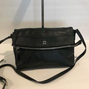 LODIS  Cross body black pebble leather bag NWOT